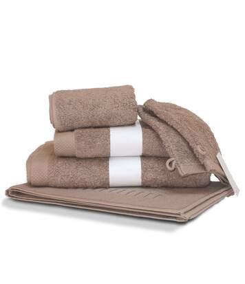 Parure de bain 6 pièces PURE Taupe 550 g/m2