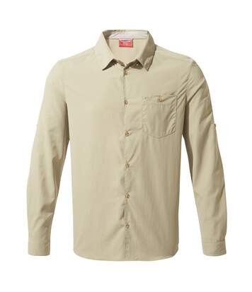 Craghoppers Mens NosiLife Nuoro Long Sleeved Shirt (Rubble) - UTCG1119