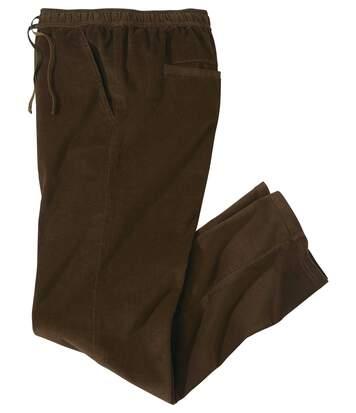 Pantalon Velours Taille Élastiquée