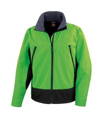 Result Mens Softshell Activity Waterproof Windproof Jacket (Vivid Green/Black) - UTBC856