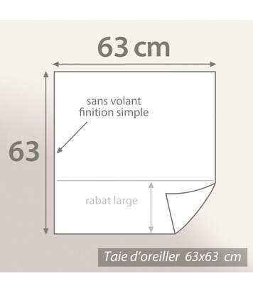 Parure de lit 260x240 cm 100% coton bio ABSTRA Multicolore 3 pièces