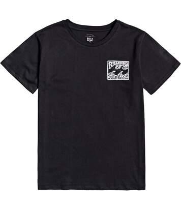 T-shirt noir femme Billabong Beach Please
