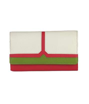 Eastern Counties Leather - Portefeuille Bea - Femme (Rose / blanc / vert) - UTEL306