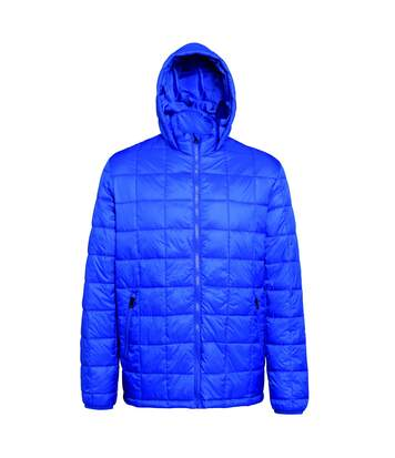 2786 Mens Box Quilt Hooded Zip Up Jacket (Royal) - UTRW5263