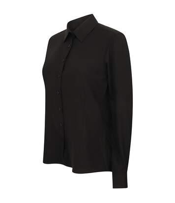 Henbury Womens/Ladies Wicking Long Sleeve Work Shirt (Slate Grey) - UTRW2697