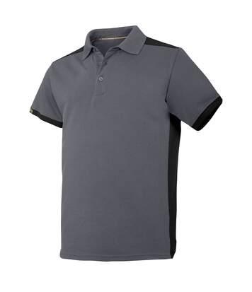 Snickers Mens AllroundWork Short Sleeve Polo Shirt (Steel Grey/Black) - UTRW5483