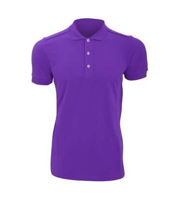 Russell Mens Stretch Short Sleeve Polo Shirt (Ultra Purple) - UTBC3257
