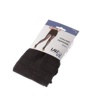 Collant fin - 1 paire - Fantaisie - Semi opaque - Mat - Gousset polyamide - A rayures - Noir - Wall