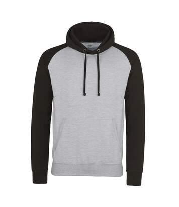 Sweat à capuche contrastée - homme - JH009 - gris clair
