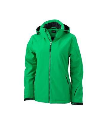 Veste softshell doublée - JN1053 - vert - Femme - Sports d'hiver - Ski