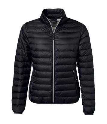 Veste doudoune matelassée duvet - JN1139 - noir - Femme