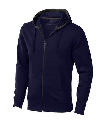 Elevate Mens Arora Hooded Full Zip Sweater (Navy) - UTPF1850