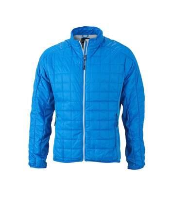 Veste hybride molletonnée - JN1116 - bleu cobalt - Doudoune Homme