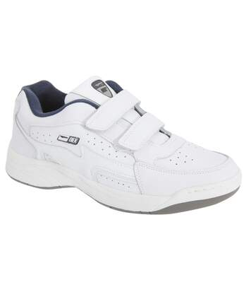 Dek Mens Arizona Touch Fastening Trainers (White) - UTDF905