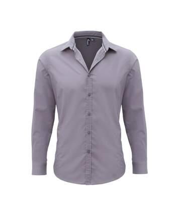 Premier Mens Long Sleeve Fitted Friday Shirt (Black) - UTRW5528