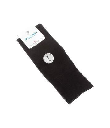 Chaussette Montantes - 1 paire - Sans bouclette - Fine - Laine - Noir