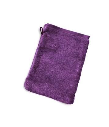 Gant de toilette 16x21 cm PURE Violet 550 g/m2