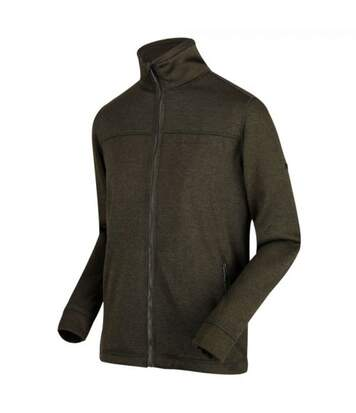 Regatta Mens Galton Heavyweight Knit Effect Fleece (Grape Leaf) - UTRG4062