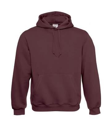 B&C Mens Hooded Sweatshirt / Hoodie (Burgundy) - UTBC127
