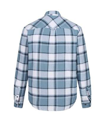 Regatta Mens Tygo Long Sleeved Checked Lined Shirt (Captain´s Blue) - UTRG4601