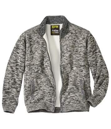 Вязаная Куртка с Подкладкой из Шерпы