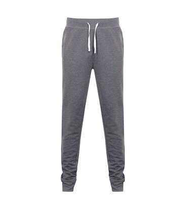 Front Row Mens French Terry Jogging Bottoms (Charcoal Marl) - UTRW5393