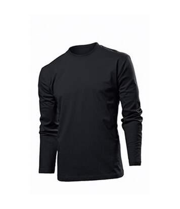 Stedman Mens Comfort Long Sleeved Tee (Black Opal) - UTAB273