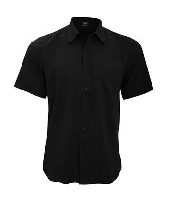 Henbury Mens Wicking Short Sleeve Work Shirt (Black) - UTRW2698
