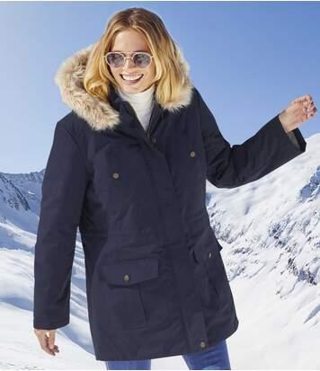 Funkčná bunda skožušinovou kapucňou