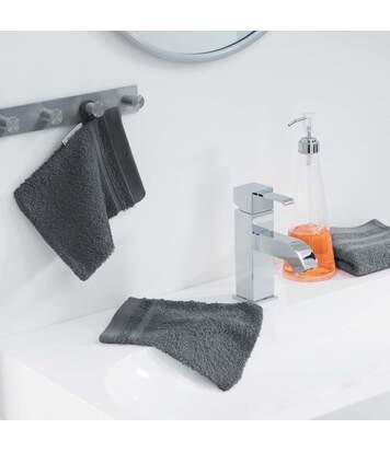 Paris Prix - Lot De 2 Gants De Toilette vitamine 15x21cm Anthracite