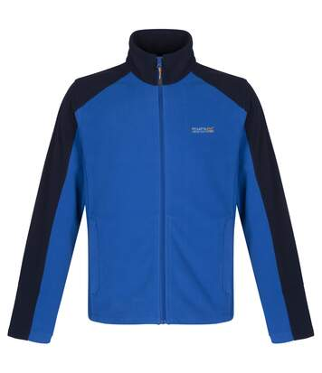 Regatta Great Outdoors Mens Hedman II Two Tone Full Zip Fleece Jacket (Oxford Blue/Navy) - UTRG1398