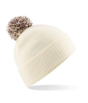 Bonnet snowstar - Adulte - B450 - blanc cassé et café