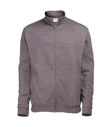 Awdis Mens Plain Fresher Full Zip Sweat / Sweatshirt / Outerwear (Charcoal) - UTRW178