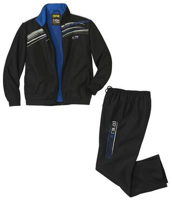 Men's Black Microfibre Tracksuit
