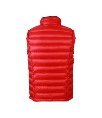Gilet sans manche matelassé duvet HOMME - JN1080 rouge - doudoune anorak