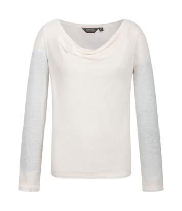 Regatta - T-Shirt Manches Longues Frayda - Femme (Blanc cassé) - UTRG3739