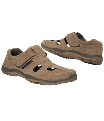 Men's Brown Leather Summer Shoes