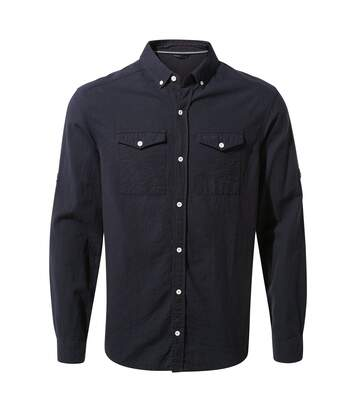 Craghoppers Mens Kiwi Linen Long Sleeved Shirt (Dark Navy) - UTCG1297