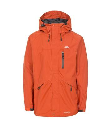 Trespass Mens Corvo Hooded Full Zip Waterproof Jacket/Coat (Burnt Orange) - UTTP296