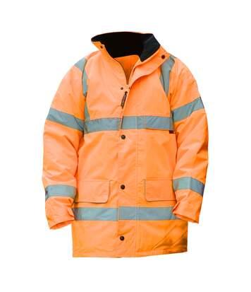 Warrior Mens Nevada High Visibility Safety Jacket (Fluorescent Orange) - UTPC212