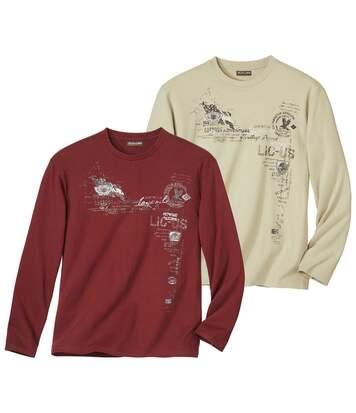 Set van 2 Legend T-shirts met lange mouwen en print