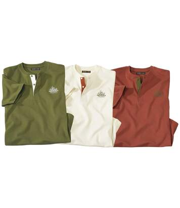 3er-Pack Henley-Shirts Arizona