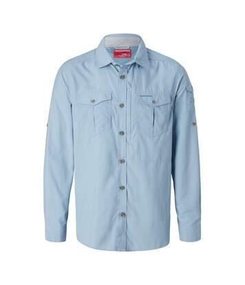 Craghoppers Mens NosiLife Adventure II Long Sleeved Shirt (Fogle Blue) - UTCG1085