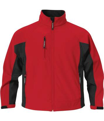 Stormtech Mens Bonded Teflon® DWR Wind/Water Repellent Jacket (Stadium Red/Black) - UTBC1168