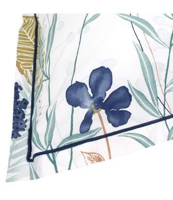 Parure de lit 300x240 cm Percale pur coton PETITE FOLIE Bleu 3 pièces