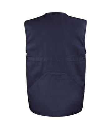 Result Mens Safari Waistcoat Jacket (Midnight Navy) - UTBC927