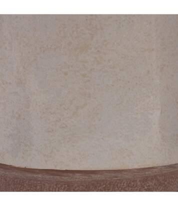 Atmosphera - Lampe à poser Blanche pied bicolore H 60 cm