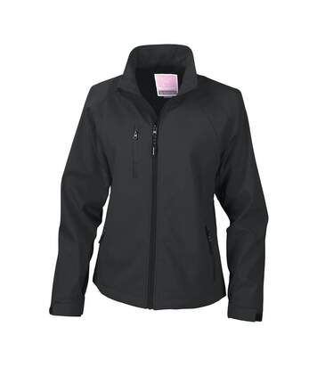 Result Ladies/Womens La Femme® 2 Layer Base Softshell Breathable Wind Resistant Jacket (Black) - UTBC863