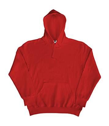SG Mens Plain Hooded Sweatshirt Top / Hoodie (Red) - UTBC1072