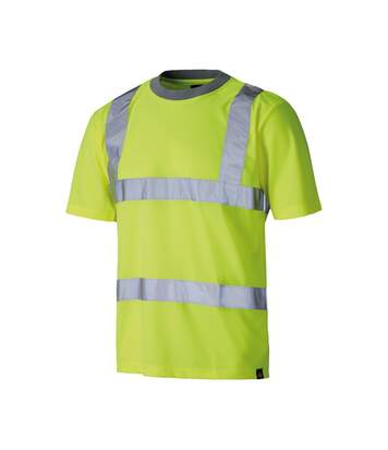 Dickies Mens Hi Vis Safety Short Sleeve T-Shirt (Yellow) - UTDK225